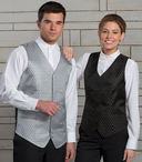 Ladies Waitress Diamond & Dots Brocade Vest (Discontinued NOT Returnable)