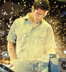 Men's Industrial Work Maintenance Wrinkle Resistant Cotton Shirt