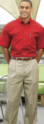 Men's Utility Chino Pants: Flat Front or Pleated
