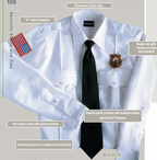 Unisex 100% Polyester Security Shirt