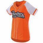 Ladies/Girls Softball Full Button Jersey