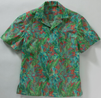 Unisex Restaurant Tropical Camp Shirt