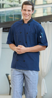 Havana Short Sleeve Poly Cotton Moisture Wicking Chef Coat