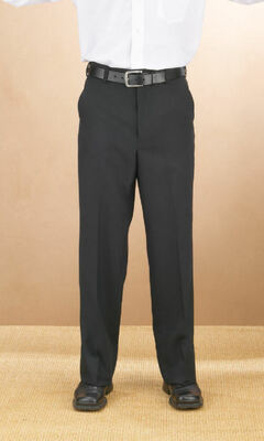 Men's Value Polyester Plain Front Comfort Fit Pant