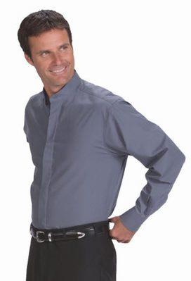 Men's Banded Collar Shirt