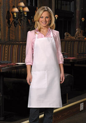One Patch Pocket Butcher Apron with Pencil Divide