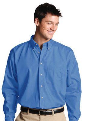Men's Poplin Shirt Button Down Collar