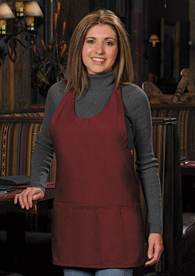 Three Pocket Scoop Neck Apron