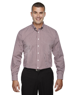 Men's Server Fine Gingham Check No-Iron Shirt