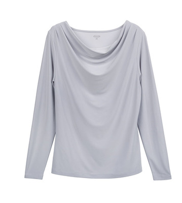 Ladies Server Long Sleeve Cowl-Neck Cocktail Blouse