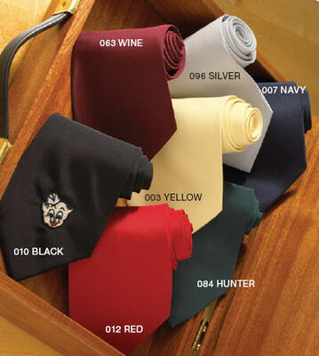 Server Polyester Solid Color Ties