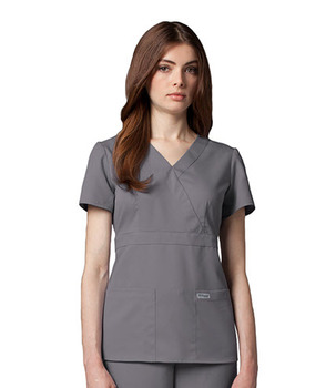 a6bea4f9837 Junior Grey's Anatomy™ 3-Pocket Mock Wrap Scrub Top