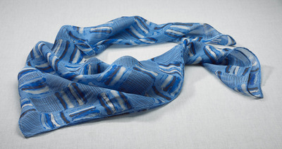 Ladies Front Desk Checkerboard Chiffon Scarf