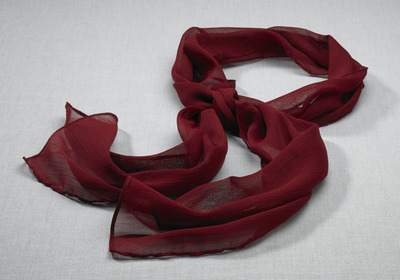 Ladies Hotel Front Desk Crinkle Chiffon Scarf