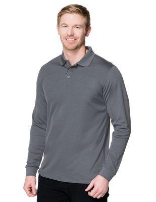 394d2015 Unisex Server Long Sleeve Three Snap Button Polo Shirt