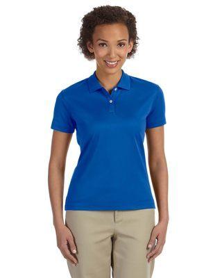 92c39647cb445 Ladies Moisture Wicking Poly Pima Cotton Waitress Polo Shirt
