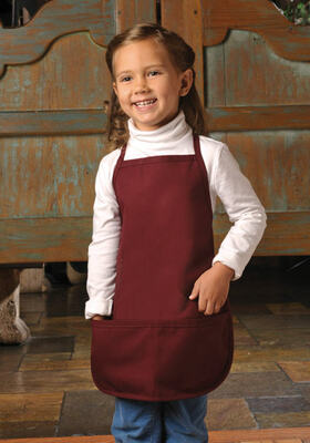 41805911 ... chef's toque in White or Pink. Two Pocket Child-Youth Bib Apron