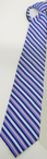 Restaurant Striped Zipper Tie