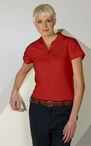 Womens Moisture Management Hi-Performance Polo Shirt