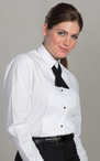 Ladies Lay Collar Tuxedo Shirt