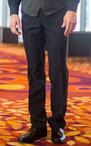 Men's Polyester Flat Front No Pocket Pant
