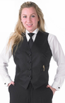 Ladies Banquet Diamond Leaf Vest