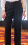 Ladies Polyester Flat Front No Pocket Pant