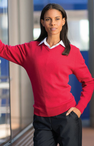 Ladies Hotel Cotton V-Neck Sweater