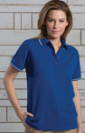 Women's Soft Touched Tipped Blended Pique Polo (Discontinued NOT Returnable)