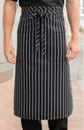 Cafe Chalk Stripe Two Patch Pocket Bistro Apron