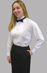 Girl's Wing Collar Concert Tuxedo Shirt (Sizes are Ladies Sizes 0-28, NOT Girls)