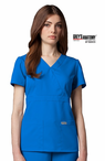 Junior Grey's Anatomy&#0153 3-Pocket Mock Wrap Scrub Top