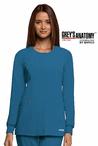 Junior Grey's Anatomy&#0153 Snap Front 2-Pocket Round Neck Warm-Up Jacket