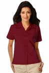 Ladies Fitted SuperBlend Waitress Solid Color Camp Shirt