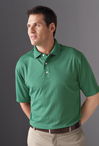 Men's Jacquard Moisture Management Pique Polo