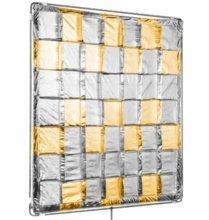Modern Studio 4x4 Silver / Gold Reflector Slip-On Shiny Board
