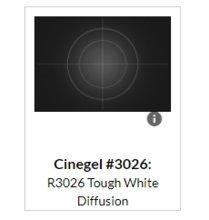Rosco Cinegel Tough White (216)  Diffusion 3026 Gel Filter Sheet