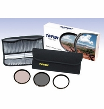 Tiffen 58mm Photo Essentials Filter Kit, UV, 812, Polarizer, 58TPK1