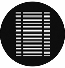 205 Venetian Blind Steel Gobo Pattern