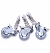"""American Combo Stand Wheels for 1"""" Legs  (Set of 3)"""