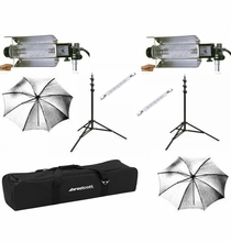 BarnDoor Lowel Tota 2 Light Kit w/Soft Case and 750W Bulbs