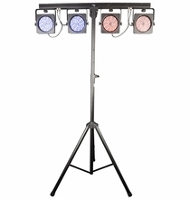 Chauvet 4BAR USB LED Wireless Wash Light Kit w/ Case