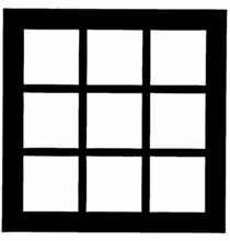 Chimera French Doors Window Pattern 22 x 22 inch 5310