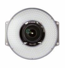 F&V R300 LED Daylight Ring Light On Camera w/ 15mm Rail Mount