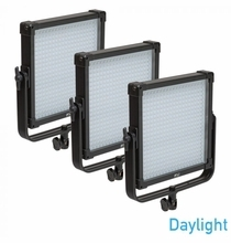 F&V Lighting K4000 SE Daylight 1x1 LED Panel 3 Light Kit V-Mount