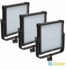 F&V Lighting K4000S SE BiColor 1x1 LED Light Panel 3 Light Kit V-Mount