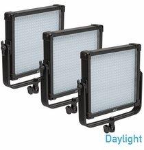 FV Lighting K4000 SE Daylight 1x1 LED 3 Light Kit - AB Gold Mount