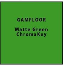 "GAM GAMFLOOR Matte Green ChromaKey Vinyl Floor 48"" x 50ft"