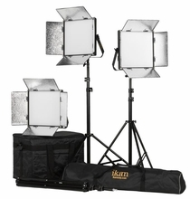 Ikan Lyra Soft Panel 1x1 BiColor LED 3 Light Kit