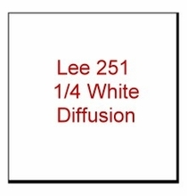 Lee 251 1/4 White Diffusion. Roll measures 4ft. x 25ft.